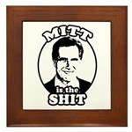Mitt is the shit Framed Tile