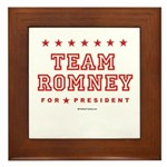 Team Romney Framed Tile