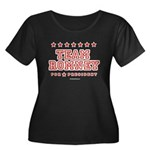 Team Romney Women's Plus Size Scoop Neck Dark T-Sh