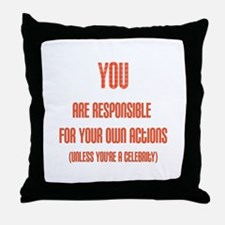 Celebrity Justice Throw Pillow