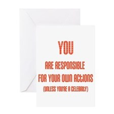 Celebrity Justice Greeting Card