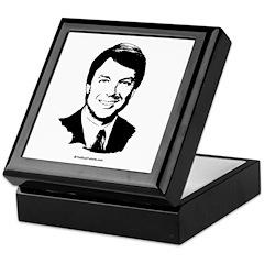 John Edwards Face Keepsake Box