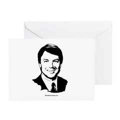 John Edwards Face Greeting Cards (Pk of 20)