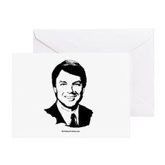 John Edwards Face Greeting Card