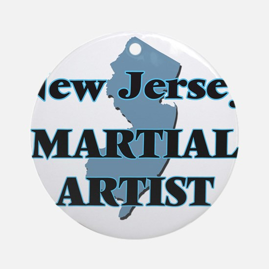 New Jersey Martial Artist Round Ornament