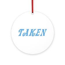 Taken Baby Blue w/o Circles Ornament (Round)