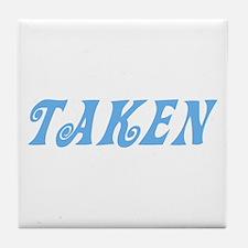 Taken Baby Blue w/o Circles Tile Coaster