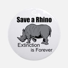Save A Rhino Round Ornament