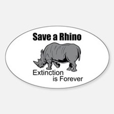 Save A Rhino Decal