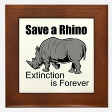 Save A Rhino Framed Tile