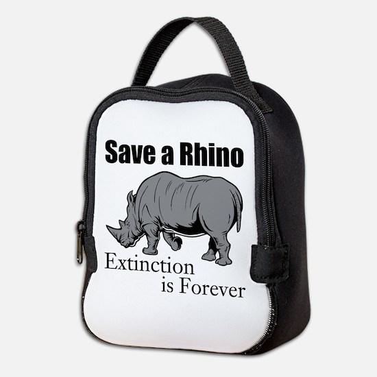 Save A Rhino Neoprene Lunch Bag