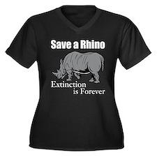 Save A Rhino Plus Size T-Shirt