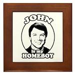 John is my Homeboy Framed Tile
