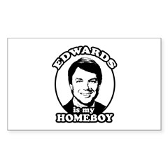 John Edwards is my homeboy Rectangle Decal