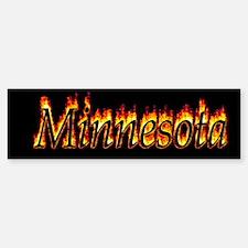 Minnesota Flame Bumper Bumper Bumper Sticker