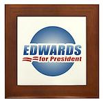 John Edwards for President Framed Tile