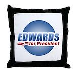 John Edwards for President Throw Pillow