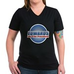 John Edwards for President Women's V-Neck Dark T-S