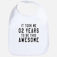 02 Years Birthday Designs Bib