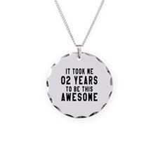 02 Years Birthday Designs Necklace