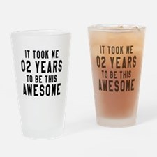02 Years Birthday Designs Drinking Glass