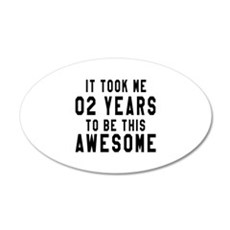 02 Years Birthday Designs Wall Decal