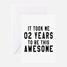 02 Years Birthday Designs Greeting Card