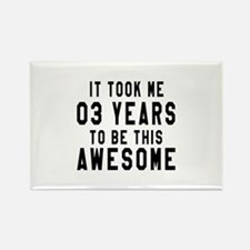 03 Years Birthday Designs Rectangle Magnet