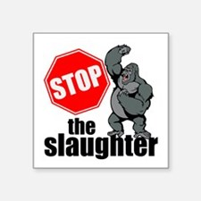 Stop Ape Slaughter Sticker