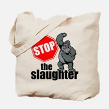 Stop Ape Slaughter Tote Bag