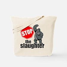 Stop Ape Slaughter Tote Bag