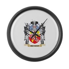 Ricardo Coat of Arms - Family Cre Large Wall Clock
