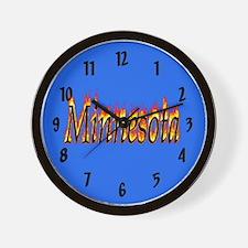 Minnesota Flame Wall Clock