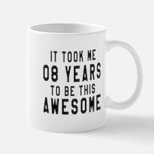 08 Years Birthday Designs Mug