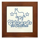Edwards for Presiden Framed Tile