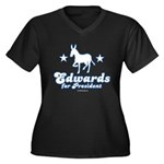 Edwards for Presiden Women's Plus Size V-Neck Dark