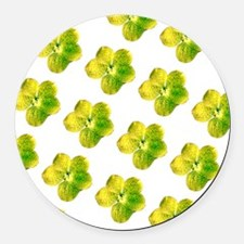 Yellow Floral Mirage Hodge's Fave Round Car Magnet