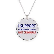 I support law enforcement no Necklace