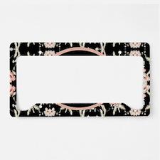 girly anchor black floral License Plate Holder