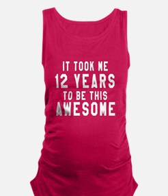 12 Years Birthday Designs Maternity Tank Top