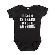 13 Years Birthday Designs Baby Bodysuit