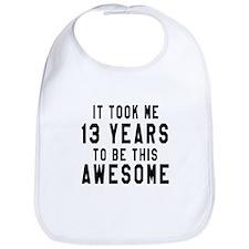 13 Years Birthday Designs Bib