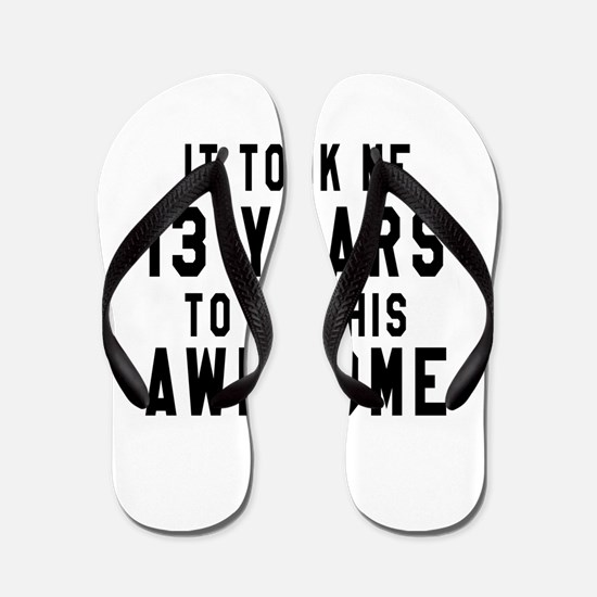 13 Years Birthday Designs Flip Flops