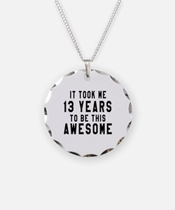13 Years Birthday Designs Necklace