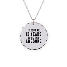13 Years Birthday Designs Necklace Circle Charm