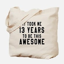 13 Years Birthday Designs Tote Bag