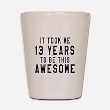 13 Years Birthday Designs Shot Glass