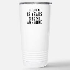 13 Years Birthday Desig Travel Mug
