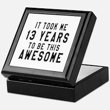 13 Years Birthday Designs Keepsake Box