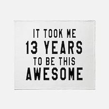 13 Years Birthday Designs Throw Blanket